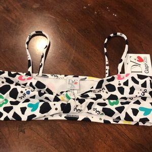 DVF for gap kids bikini top Sz 14/16 NWT